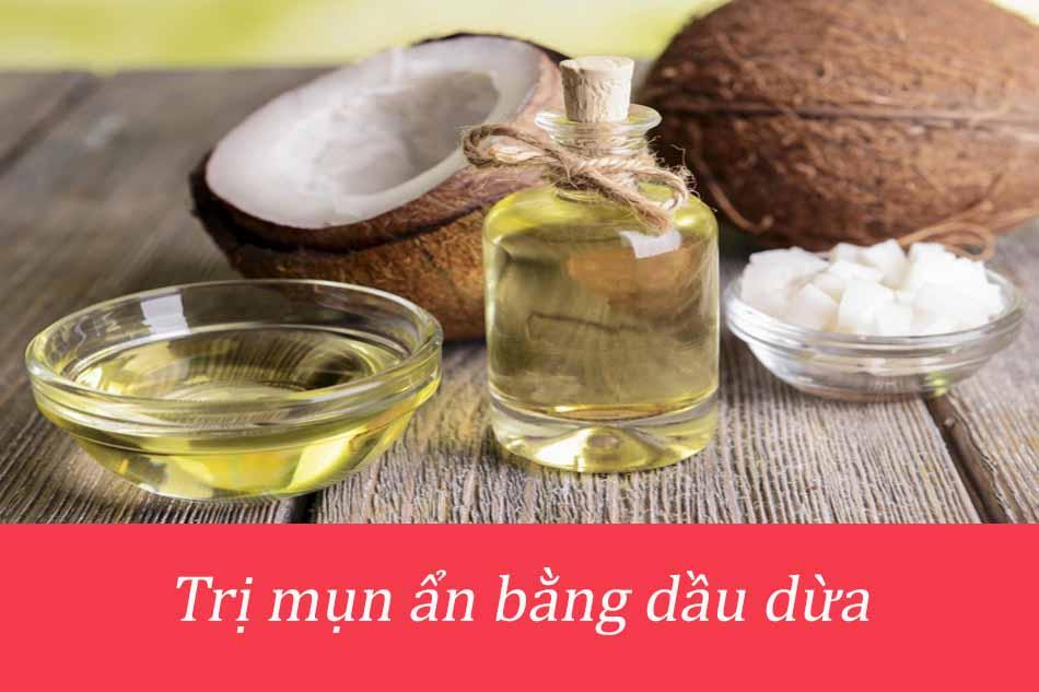 Trị mụn ẩn dưới da nhanh chóng bằng dầu dừa